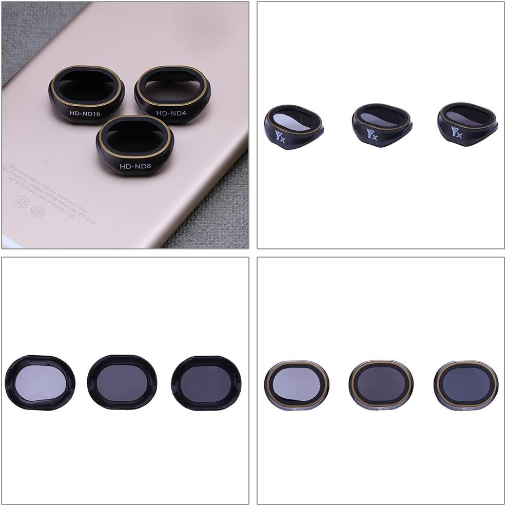 Childplaymate 3pcs Lens Filters Set for DJI Drone UAV Protector Part ND4+ND8+ND16