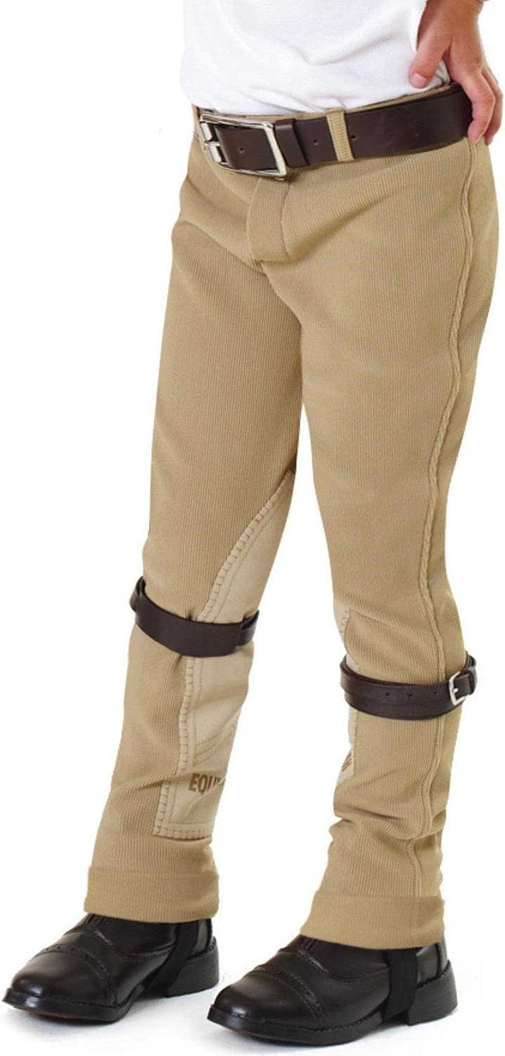 Shires Essentials Lowrise Childrens Pull On Knee Patch Riding Breeches