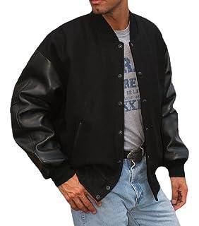 reed mens premium varsity leatherwool jacket made in usa