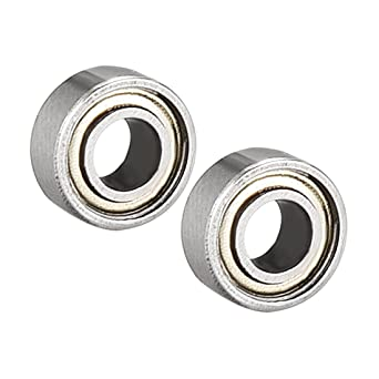 Pack of 4 Carbon Steel sourcing map 623ZZ Ball Bearing 3mm x 10mm x 4mm Double Shielded 623-2Z 80023 Deep Groove Bearings