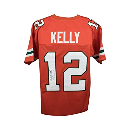 Jim Kelly Autographed Miami Hurricanes Custom Orange Football Jersey ... 959675c2b