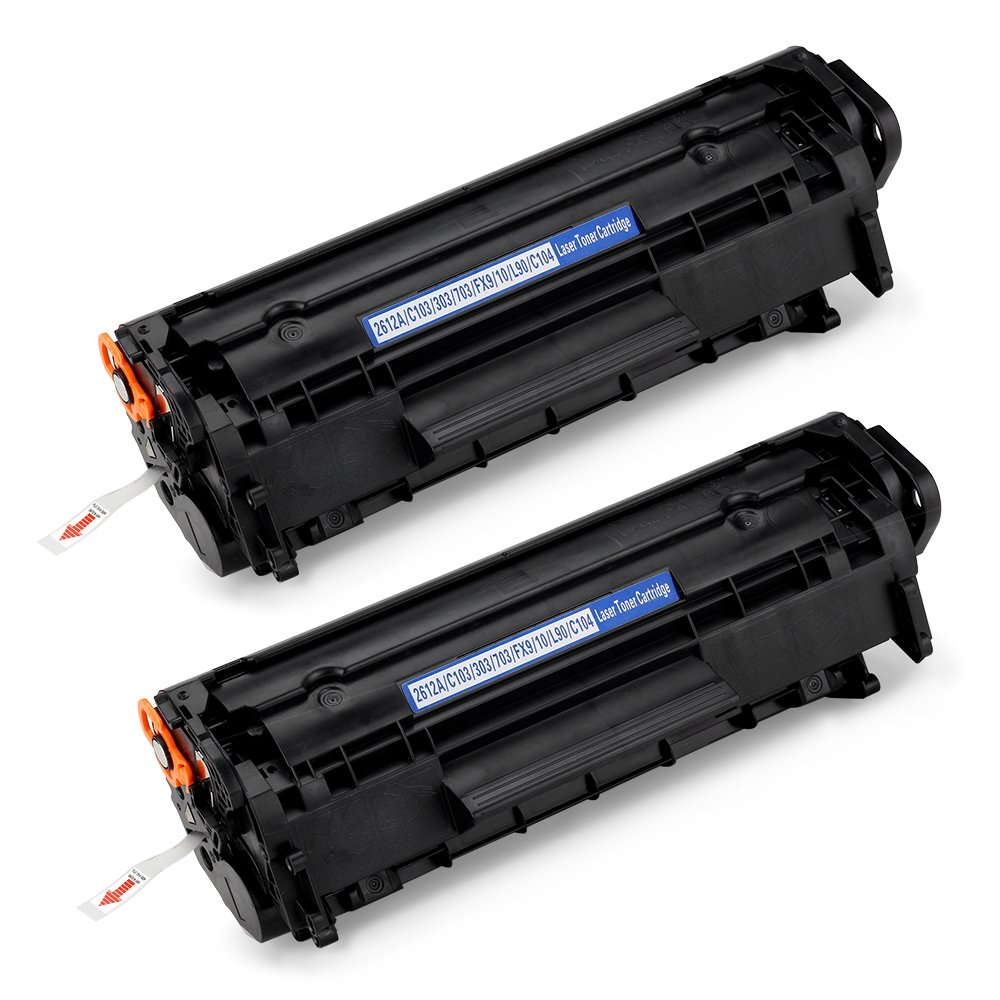 Office World Compatible Toner Cartridge Replacement for HP Q2612A 12A (Black, 2-Packs),Compatible with HP LaserJet 1010 1012 1018 1020 1022 1022n 1022nw 3015 3020 3030 3050 3052
