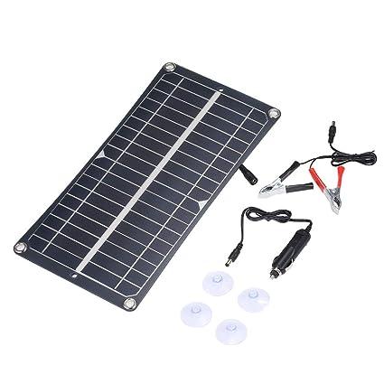 Galapara Placa Solar, DC5V / DC18V 10W Panel de Carga de ...