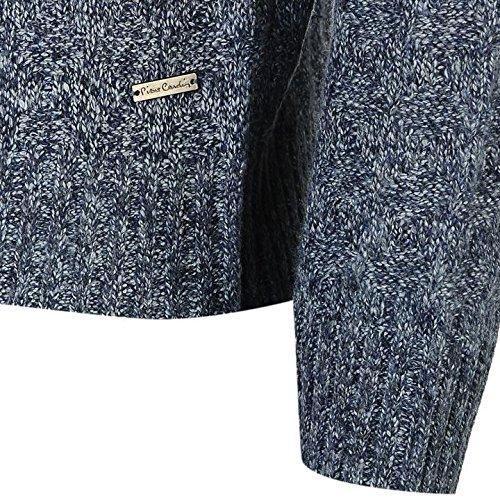 Pierre Cardin Marl ¼ Zip Jumper Herren Pullover Navy Pullover Top