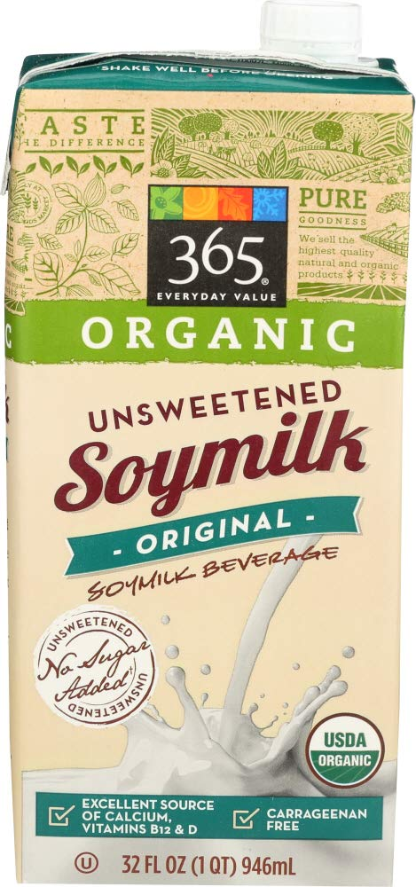 365 Everyday Value, Organic Soymilk Unsweetened, 32 Fl Oz(Packaging May Vary)