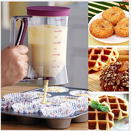 Batter Dispenser with Measurement for Cupcake Pancake Pastry Muffin Baking Maker Tool