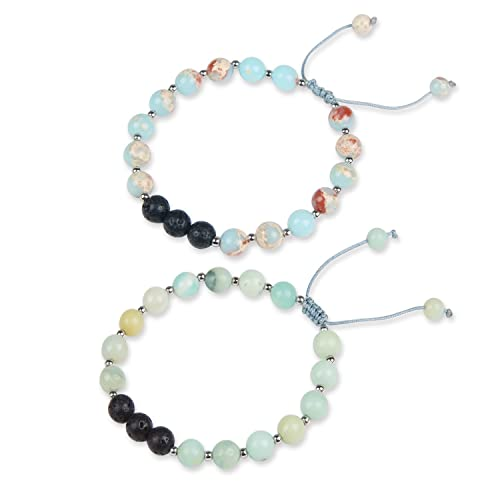 Jewelry & Watches Aromatherapy Aromatherapy Jewellery With Gems. Essential Oil Lava Stone Diffusing Bracelet