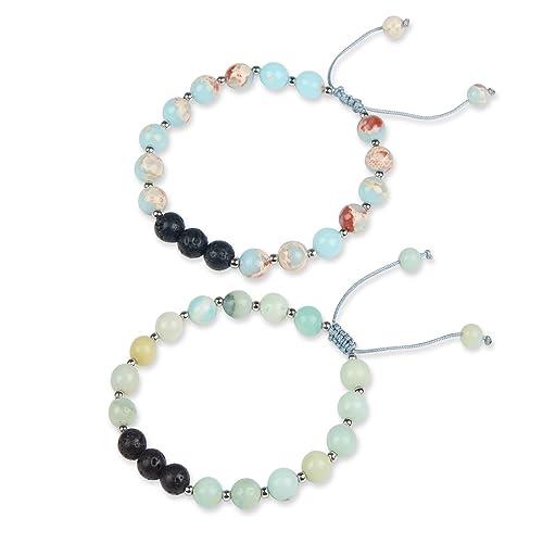 Bracelets Essential Oil Lava Stone Diffusing Bracelet Aromatherapy Jewellery With Gems. Jewelry & Watches