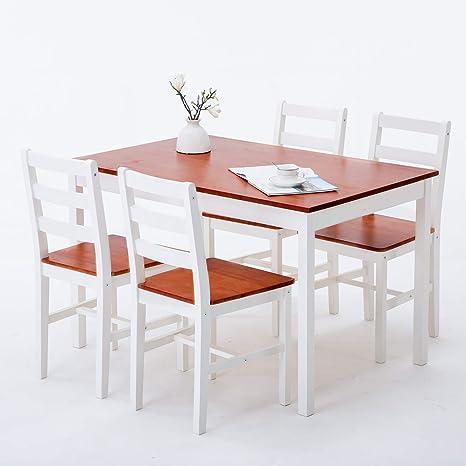 Uenjoy set moderno con tavolo e sedie per sala da pranzo e cucina ...
