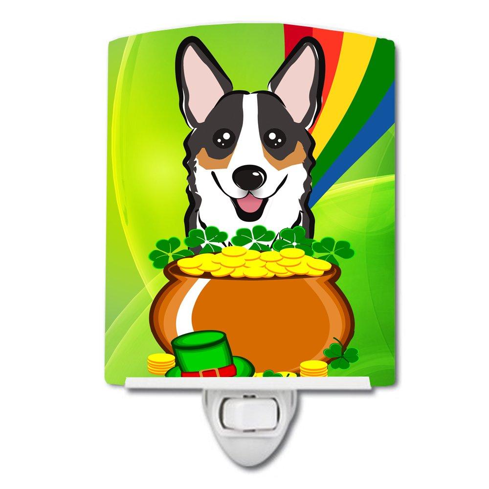 Carolines Treasures Tricolor Corgi St Patricks Day Ceramic Night Light 6x4 Multicolor