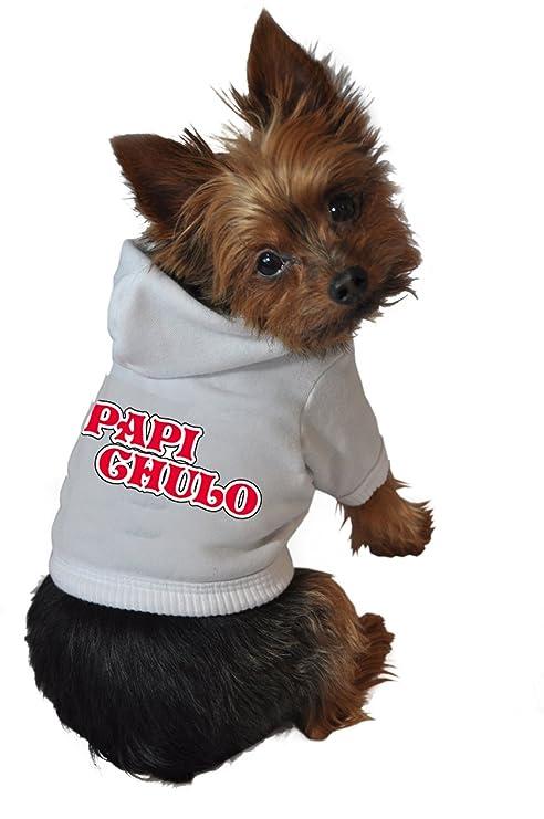 Amazon Com Ruff Ruff Meow Dog Hoodie X Small Papi Chulo White