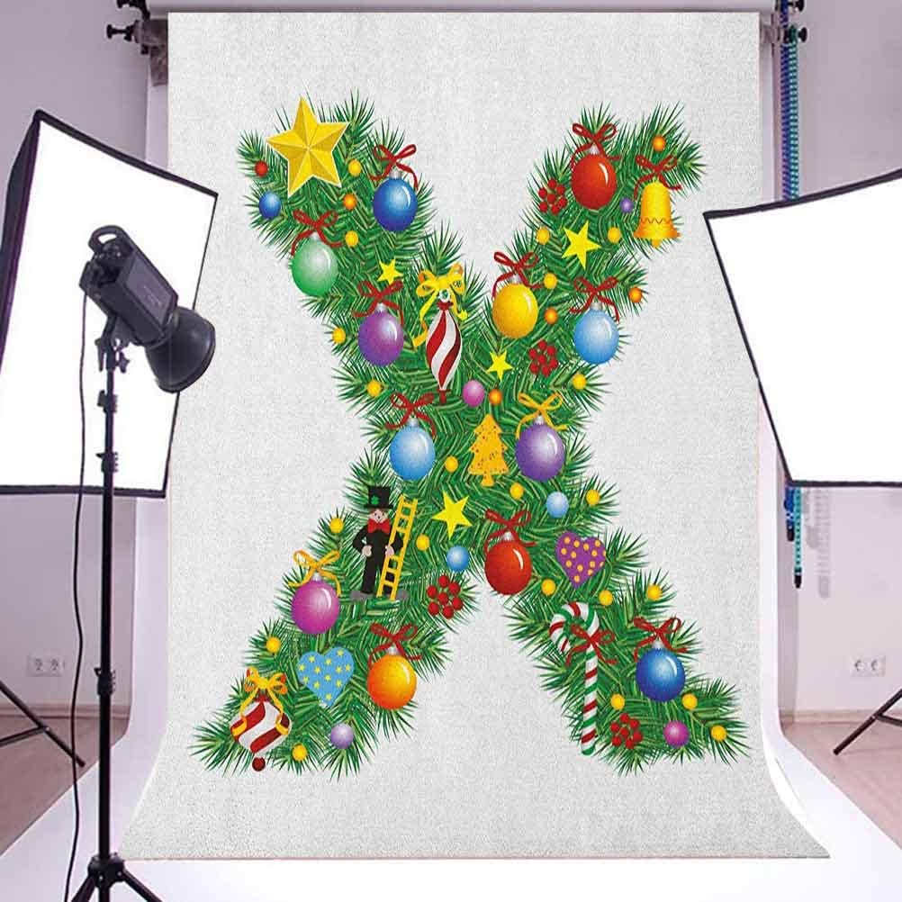 7x10 FT Vinyl Photography Backdrop,Doodle Style Floral Arrangement with Ornament Design Abstract Leaves Image Print Background for Graduation Prom Dance Decor Photo Booth Studio Prop Banner