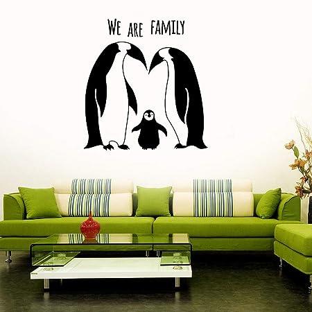 guijiumai Pingüinos Familia Vinilo Tatuajes de Pared Habitación ...