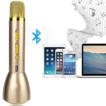 anpress altavoz Bluetooth inalámbrico portátil reproductor de karaoke y micrófono de mano, compatible con Apple iPhone Smartphone Android PC iPad, ...