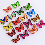 WDA LED 3D Butterfly Wall Decals Vivid Multicolored Night Lights for ...