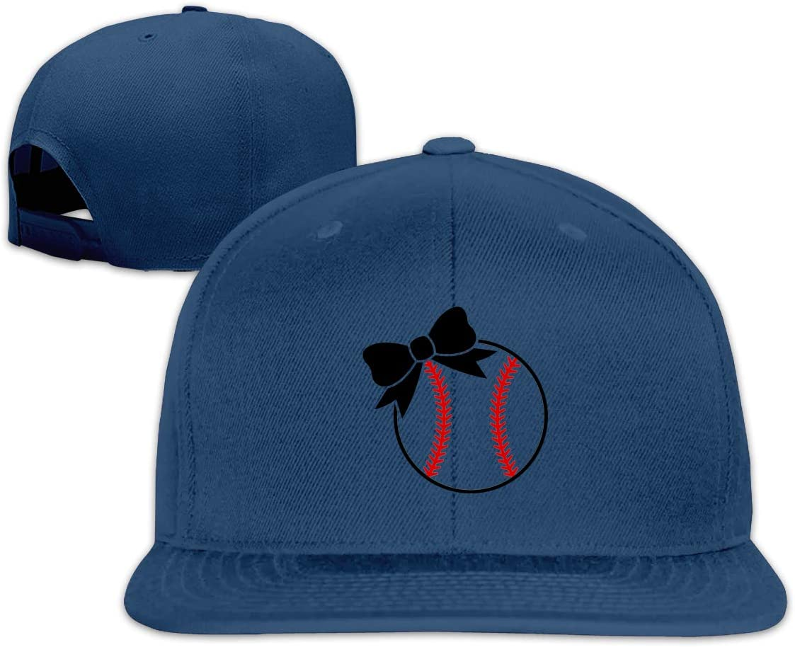 MOCSTONE Unisex Snapback Hat Softball Bow Adjustable Baseball Cap