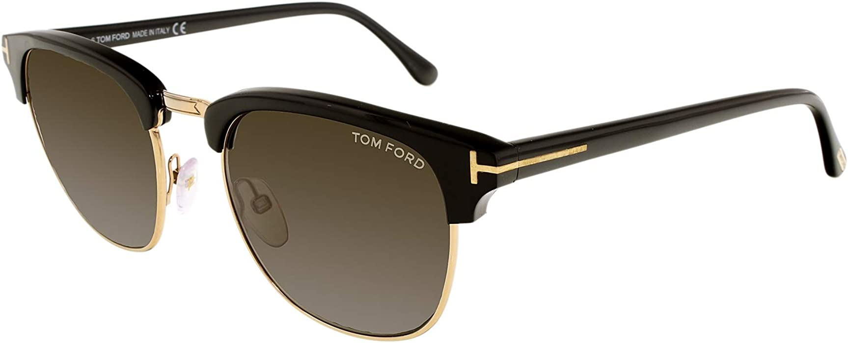 b21afdd0f8d3 Sunglasses Tom Ford HENRY TF 248 FT0248 05N black other green at Amazon  Men s Clothing store