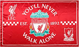 Liverpool FC Flag Soccer Club Fans Outdoor Banner - You'll Never Walk Alone 3x5 ft Red