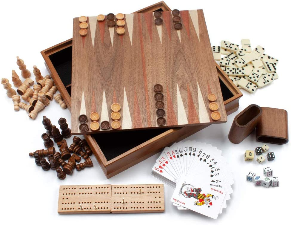 Wooden 7-in-1 Chess housewarming gifts