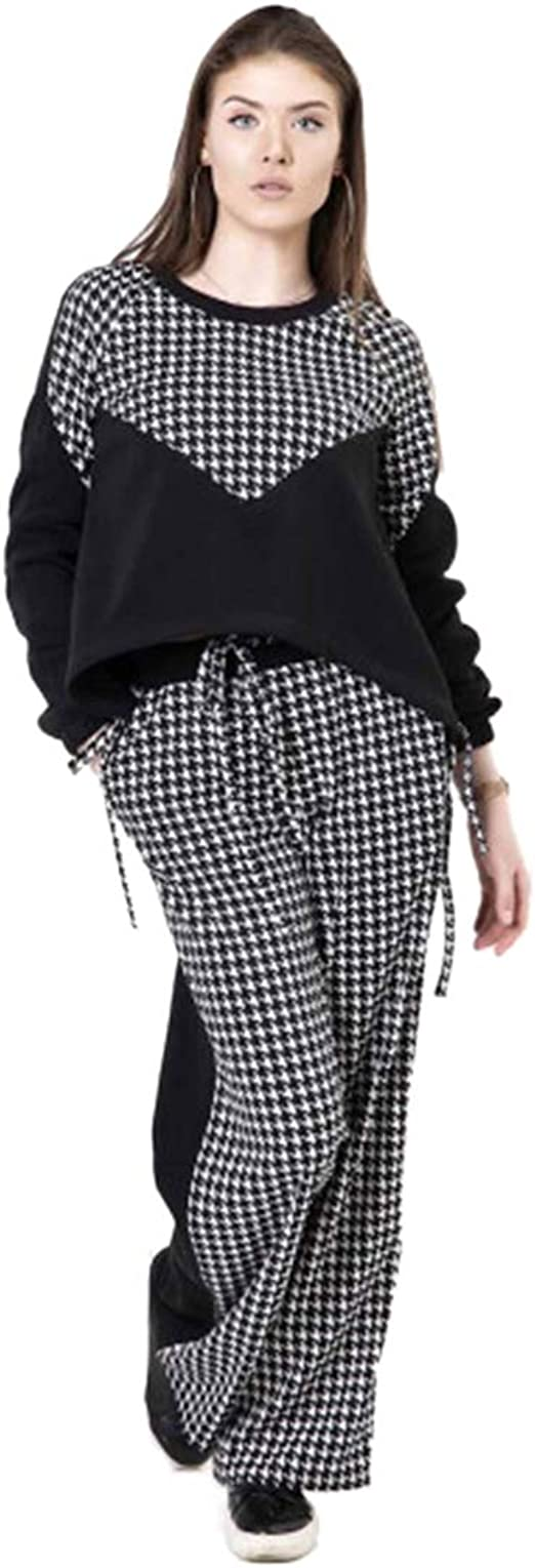 Miroslava Women/'s Sweatsuit Set Hoodie and Pants Sport Suits Tracksuits