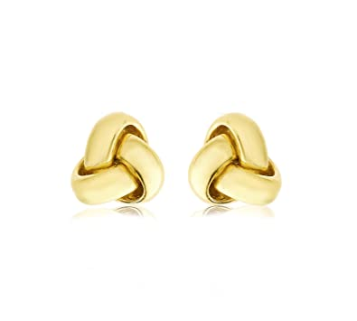 987e58dae Carissima Gold Women's 9 ct Yellow Gold 9 mm Triple Knot Stud Earrings