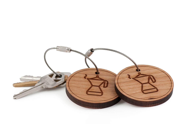 Llavero, diseño de café de Colombia, madera Twist Cable ...