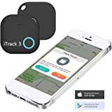 iTrack 3, Two-Way Key Finder and Phone Tracker. Bluetooth & Wireless Locator - Anti-Theft, Motion Alert, Battery Replaceable (1 Pack - Black)