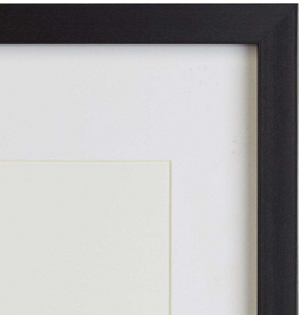 AmazonBasics - Marco para fotos con paspartú, 28 x 36 cm con paspartú de 20 x 25 cm, Negro, pack de 2 uds.: Amazon.es: Hogar