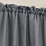 IDEALHOUSE Grey Curtain Valances,Draperies Curtains