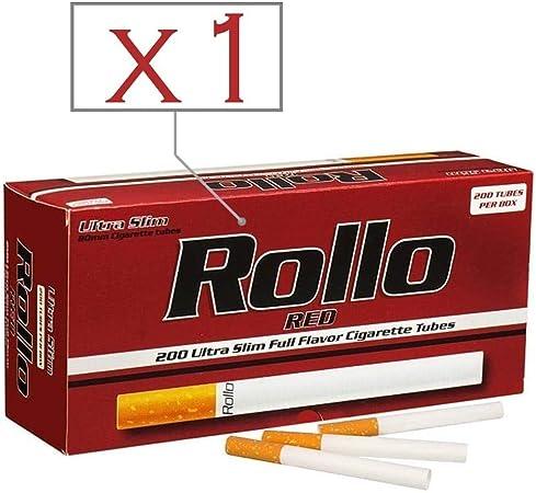 Rollo Caja de 200 Tubos Red Ultra Slim: Amazon.es: Hogar