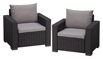 Lounge sessel terrasse  Amazon.de: Allibert Lounge Sessel Garten, California Sessel 2 ...