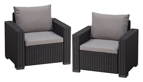 Garten lounge sessel  Amazon.de: Allibert Lounge Sessel Garten, California Sessel 2 ...