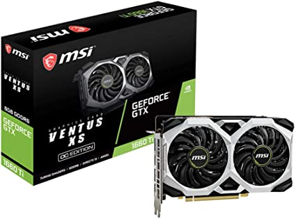MSI GeForce GTX 1660 Ventus XS 6G OC - Tarjeta gráfica (6 GB ...