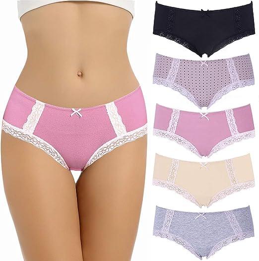 LYYTHAVON Womens Cotton Underwear Briefs Breathable Ladies Panties