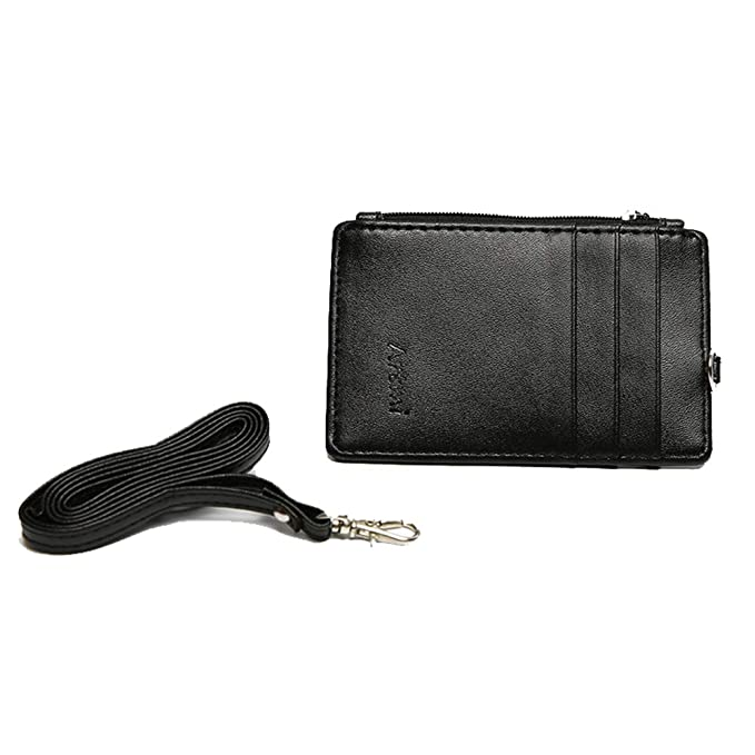 huge selection of 5408e c595e Women RFID Slim Credit Card Holder Id Card Case Holder Purse with Neck Strap