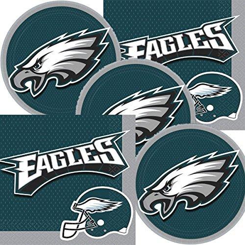 Philadelphia Eagles NFL Football Team Logo Plates And Napkins Serves -