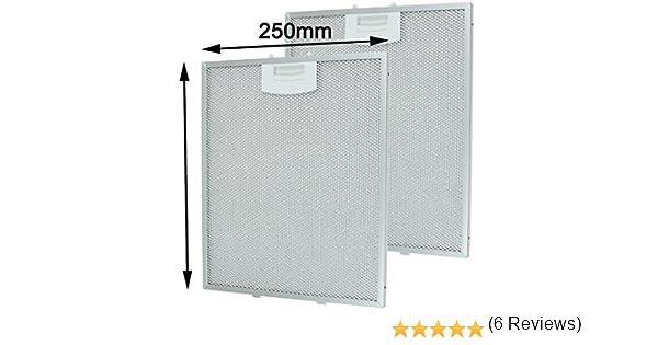 Filtros de malla de metal con extractor de ventilación SPARES2GO para ventilación de campana extractora Bosch (250 x 310 mm, paquete de 2): Amazon.es: Hogar