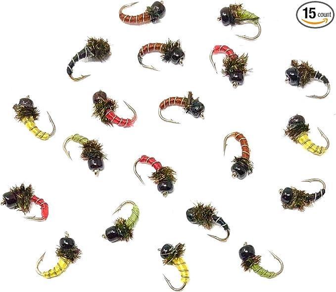 Tungsten BH Zebra Midge Olive Fly Fishing Fly