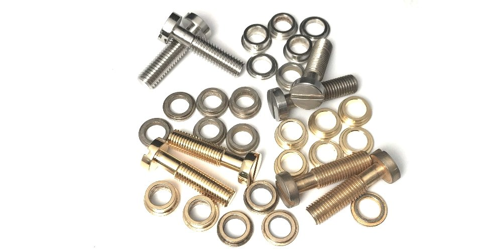 #3000 FABER TONE LOCK TAILPIECE LOCKING STUDS & SPACERS, INCH, GLOSS NICKEL Plated, STEEL, for ALL GIBSON and other USA MADE GUITARS Faber®