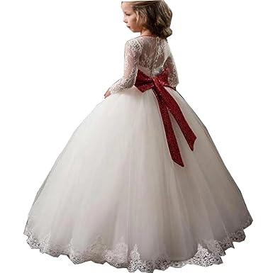 6b4ebe6125c Amazon.com: Tifus Dress Cute First Communion Dress for Girls Lace ...