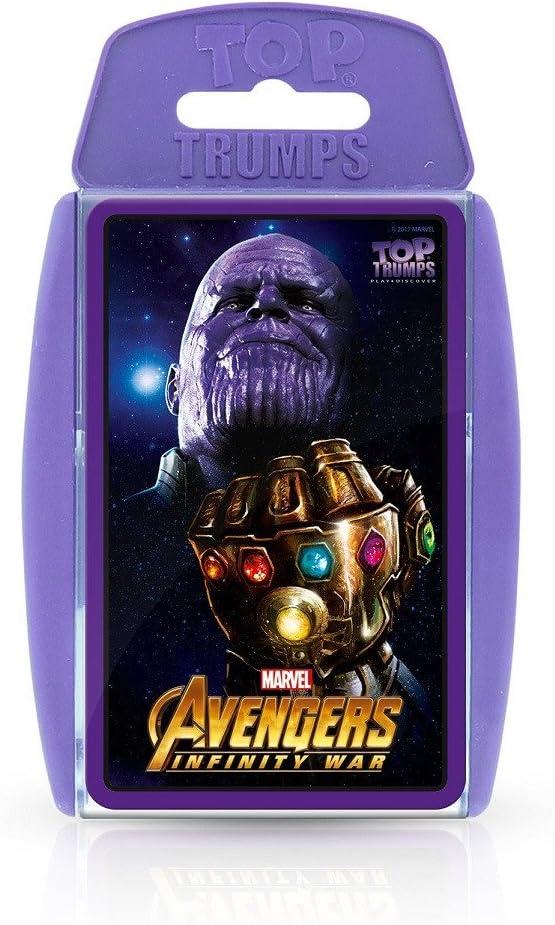 Top Trumps Juego de Cartas de los Vengadores de Marvel Infinity ...