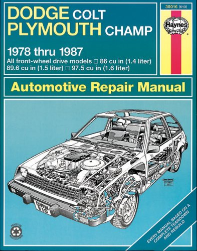 Dodge Colt And Plymouth Champ Fwd Manual  1978