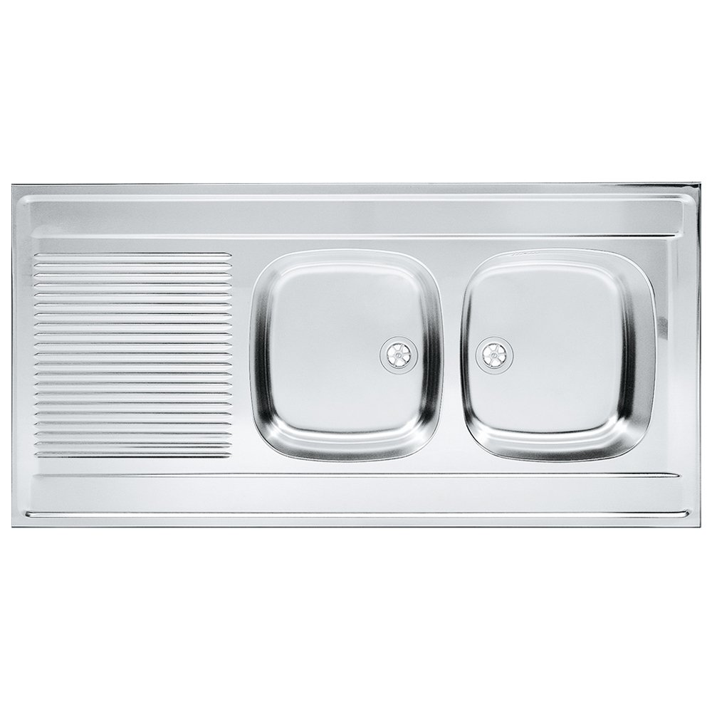 Franke 103.0360.892 lino fregadero de cocina con doble de acero inoxidable Bowl de Franke Daria DSL, Gris