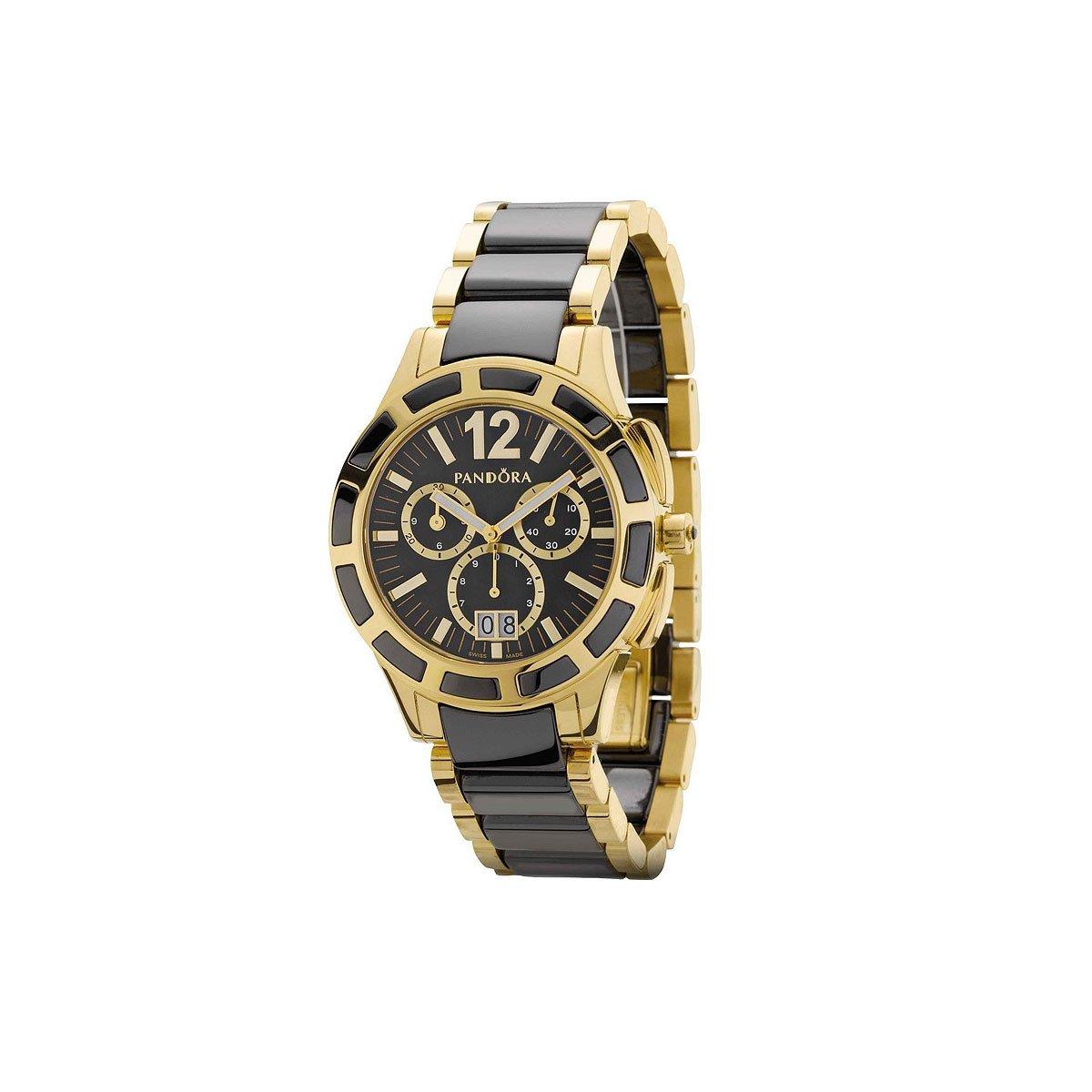 Pandora 812003BK - Reloj analógico de mujer de cuarzo con correa de acero inoxidable multicolor: Amazon.es: Relojes