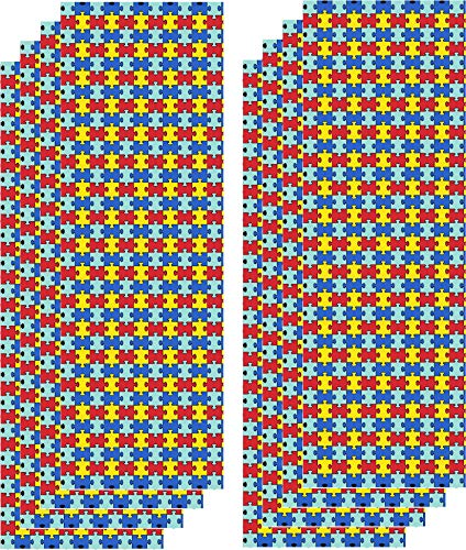 (Autism Awareness Vinyl, Puzzle Piece Vinyl Adhesive, Craft Pattern Vinyl, 8-12