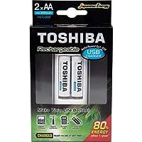 Carregador de Pilha USB p/2 pilhas AA/AAA c/ 2 Pilhas
