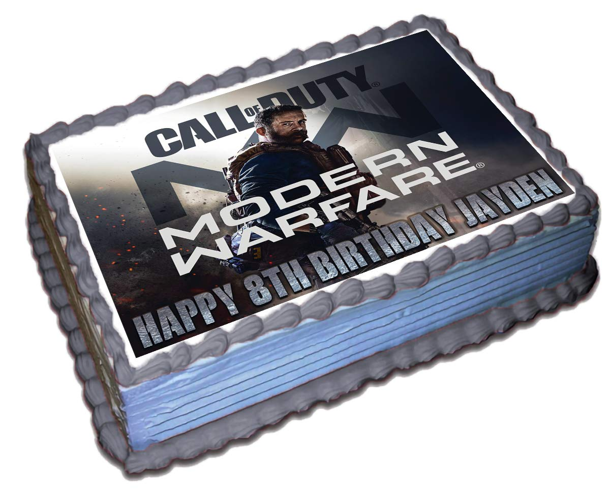 Phenomenal Call Of Duty Modern Warfare Personalized Cake Topper Icing Sugar Funny Birthday Cards Online Inifodamsfinfo