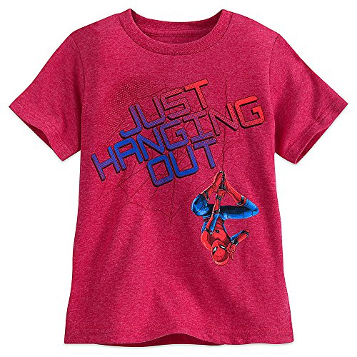 Marvel Spider-Man Heathered T-Shirt for Boys Size S (5/6) Red