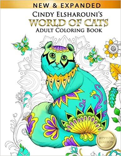 Amazon World Of Cats Adult Coloring Book 9781540780263 Cindy Elsharouni Books