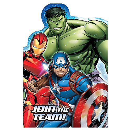 8 Marvel Epic Avengers Superhero Birthday Party Postcard Invitations